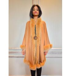 Camel Cape MONIKA Angora and Fox