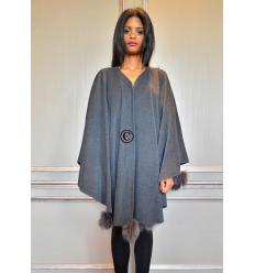 Anthracite Cape POMPONETTE Fox