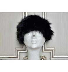 Black Fur Hat LARA Fox