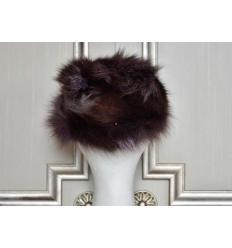Brown Silvered Fur Hat LARA Fox
