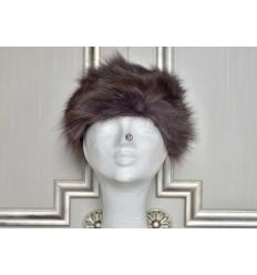 Brown Silvered Fur Hat LARA Fox