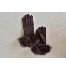 Brown Gloves ANNITA Fox