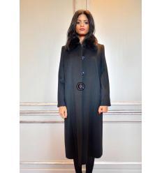Manteau noir MIRALINA Renard