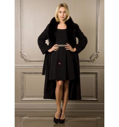 Manteau noir ORELIE Renard