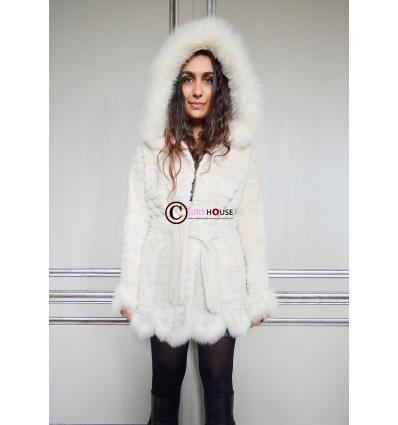 Manteau blanc 7111 Lapin et Renard
