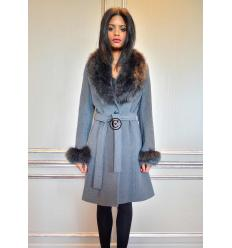 Grey Coat ELYSA Fox