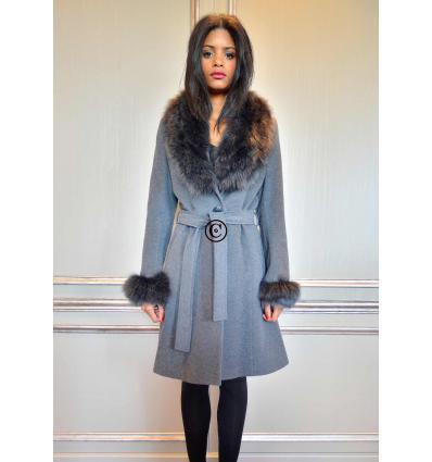 Manteau gris ELYSA Renard
