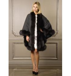 Anthracite Cape MONICA Fox