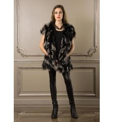 Black and Silver Vest VESMA Fox