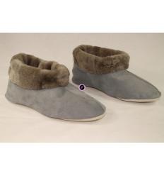 Chaussons gris TRENDY Nubbuck et Mouton