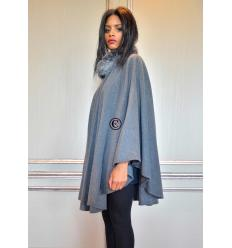 Grey Cape BARBARA Fox