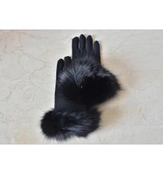 Gants noirs ANNITA Renard