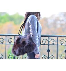 Natural Handbag DORA Nubuck and Fox