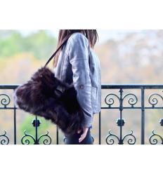 Brown Handbag REA Nubuck and Fox