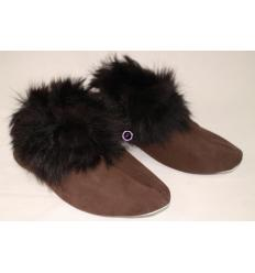 Brown Slippers TRENDY Nubuck and Sheepskin