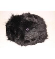 Black Fur Hat LARA Fox